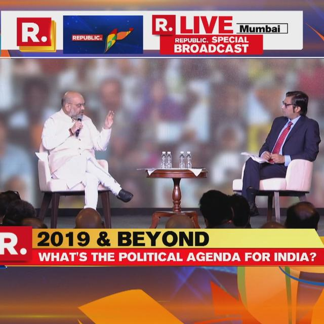 'WE WILL GO AS NDA INTO 2019': BJP PRESIDENT AMIT SHAH AT REPUBLIC SUMMIT 2018