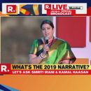 REPUBLIC SUMMIT 2018   HERE'S WHAT SMRITI IRANI SAYS 'NARRATIVE FOR 2019' SHOULD BE