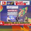 WATCH   MNM CHIEF KAMALHAASAN SHARES THE 'NARRATIVE FOR 2019' AT REPUBLIC SUMMIT 2018
