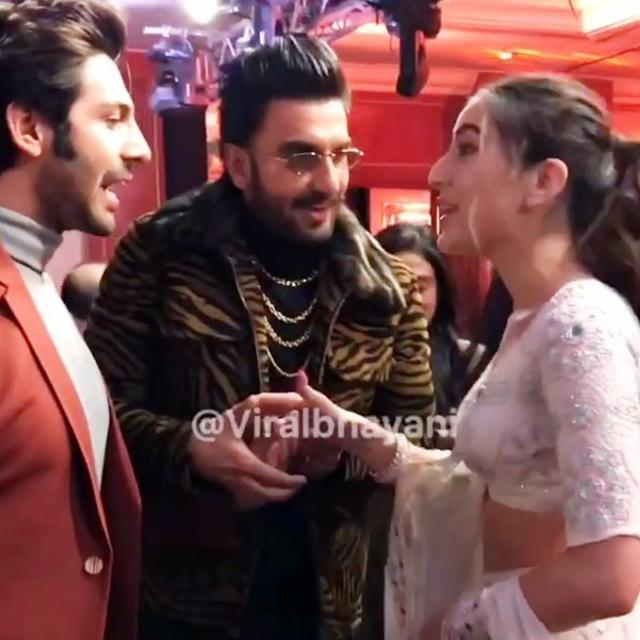 VIRAL: RANVEER SINGH TURNS MATCH-MAKER AS HE INTRODUCES HIS 'SIMMBA' CO-STAR SARA ALI KHAN TO KARTIK AARYAN