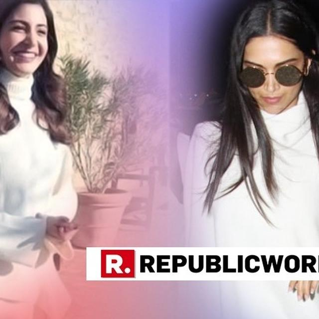 DEEPIKA AND ANUSHKA PROVE OVERSIZED WHITE SWEATERS ARE IN VOGUE