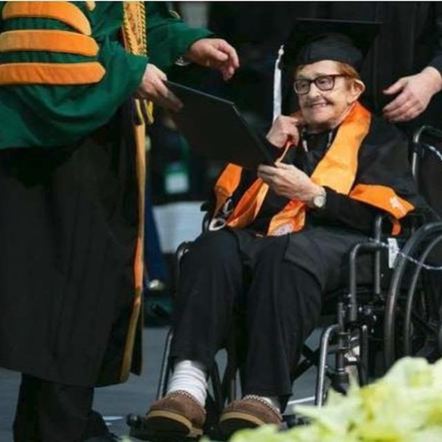 AFTER RETIREMENT 84-YEAR-OLD GOES BACK TO COLLEGE TO GET BACHELOR'S DEGREE. THIS IS HER STORY
