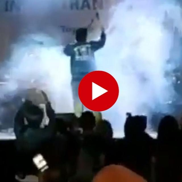 CAUGHT ON TAPE: TSUNAMI WAVES CRASH THROUGH ROCK-CONCERT IN INDONESIA