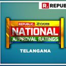 NATIONAL APPROVAL RATINGS: IN TELANGANA, KCR'S TRS PROJECTED TO SWEEP
