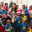 IN PICTURES: JACQUELINE FERNANDEZ SPREADS SMILES AHEAD OF CHRISTMAS, CELEBRATES FESTIVAL WITH UNDER-PRIVILEGED CHILDREN