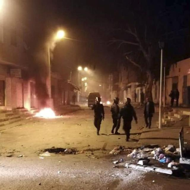PROTESTS ERUPT IN TUNISIA AFTER JOURNALIST SETS HIMSELF ON FIRE