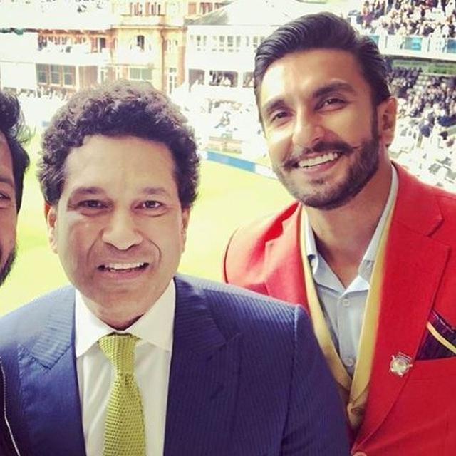 WHY SACHIN TENDULKAR WAS SURPRISED AND GAVE SIDE GLANCES TO RANVEER SINGH WHEN THEY MET AT LORD'S