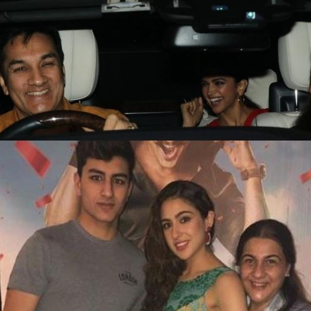 IN PICS | RANVEER SINGH AND SARA ALI KHAN'S FAMILIES JOIN THE 'SIMMBA' FEVER AHEAD OF RELEASE