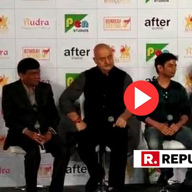 VIRAL: ANUPAM KHER'S RESPONSE WHEN ASKED WHETHER HE IS RELEASING THE ACCIDENTAL PRIME MINISTER TO SHOW 'INDIRECT SUPPORT' TO THE BJP IS A MUST-WATCH