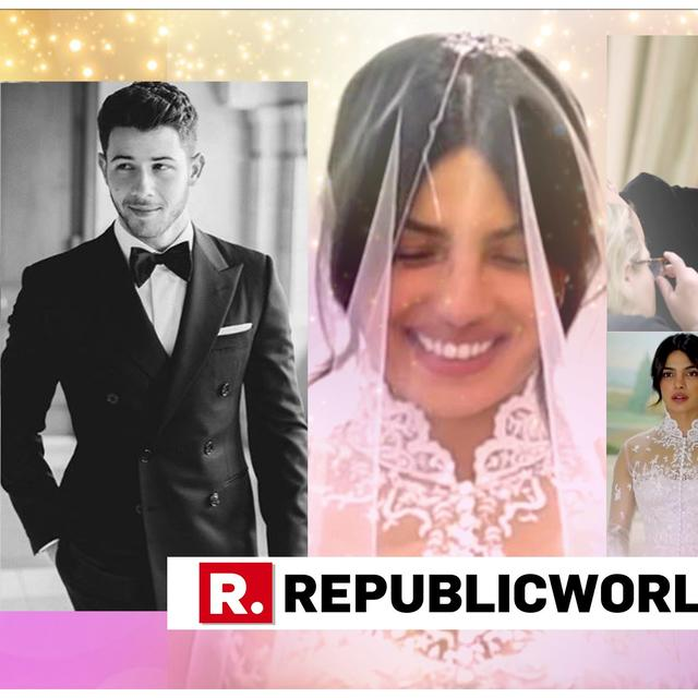 WATCH | PRIYANKA CHOPRA'S EXCITEMENT AT TRYING OUT HER STUNNING WEDDING GOWN; WORDS COUPLE GOT SEWN ON THEIR OUTFITS REVEALED
