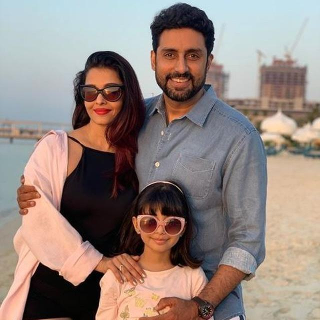 'MINE' AFFIRMS ABHISHEK BACHCHAN AS HE SHARES PICTURE OF DAUGHTER AARADHYA AND WIFE AISHWARYA RAI BACHCHAN