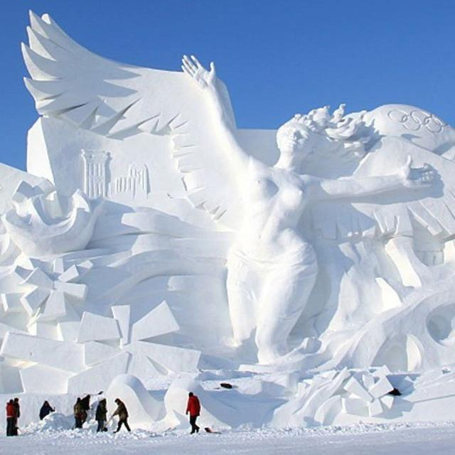 HERE'S HOW THE WORLD'S LARGEST ICE AND SNOW FESTIVAL LOOKS LIKE
