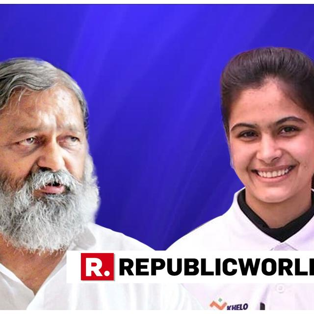 HARYANA SPORTS MINISTER ANIL VIJ HITS OUT AT MANU BHAKER FOR HER TWEETS