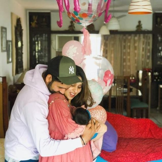 ROHIT POSTS AN ADORABLE PHOTO OF HIS DAUGHTER, REVEALS HER NAME