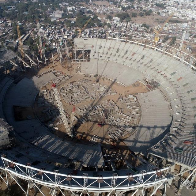 CONSTRUCTION OF WORLD'S LARGEST CRICKET STADIUM IN AHMEDABAD GETS UNDERWAY