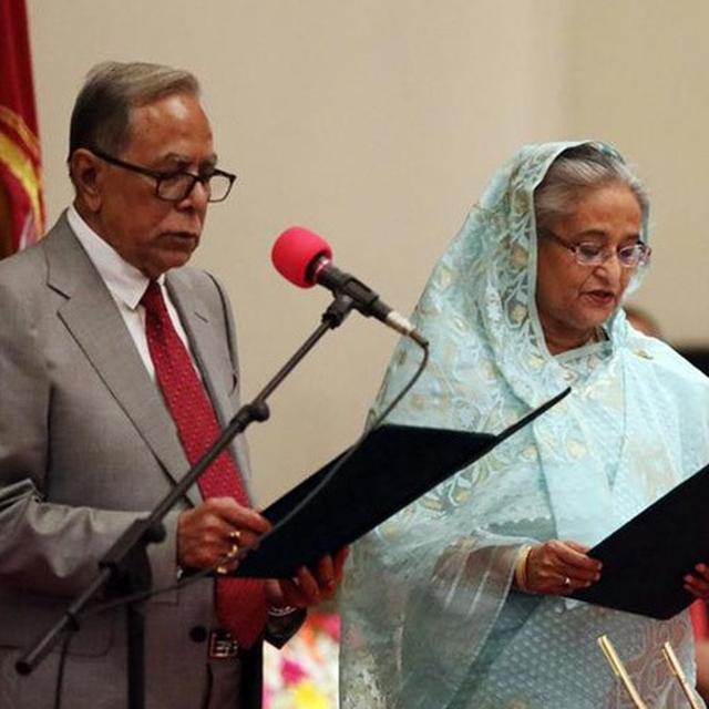 SHEIKH HASINA TAKES OATH AS B'DESH PM FOR THIRD CONSECUTIVE TERM