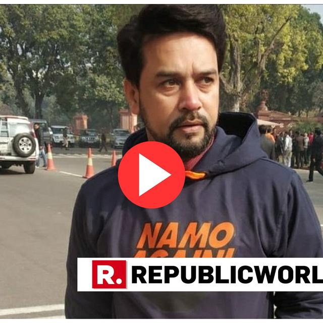 "WATCH: ""FASHION STATEMENT BY ANURAG THAKUR IN PARLIAMENT"", OBSERVES TWITTERVERSE AS MP DONS 'NAMO AGAIN!' HOODIE"