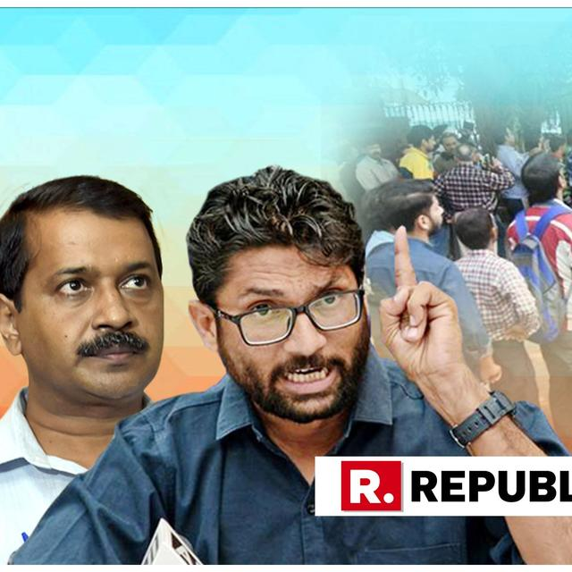 JIGNESH MEVANI FEARMONGERS ALONG 'CASTE VS INCOME' LINES OVER QUOTA BILL, ARVIND KEJRIWAL WHOLEHEARTEDLY JUMPS IN