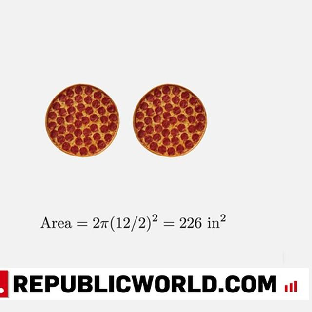 IS ONE PIZZA MORE 'PIZZA' THAN TWO PIZZAS? TWITTER DID SOME CALCULATIONS