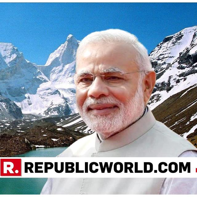 """""""WHEN YOU SURRENDER AND STAND IN FRONT OF THE VASTNESS YOU KNOW THAT YOU'RE A SMALL PART OF A LARGE UNIVERSE,"""" SAYS PM MODI ON HIS HIMALAYAN JOURNEY"""