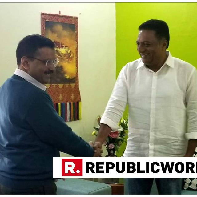 PRAKASH RAJ MEETS DELHI CM ARVIND KEJRIWAL AFTER DECLARING INTENT TO CONTEST LOK SABHA POLLS, STIRS SPECULATION