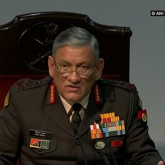 INDIAN ARMY CHIEF MESSAGE TO TERRORISTS IN J-K: SHUN VIOLENCE JOIN MAINSTREAM
