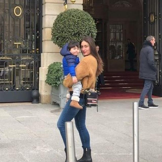 KAREENA KAPOOR KHAN AND TAIMUR ALI KHAN HOLIDAY IN THE CITY OF LOVE, SEE PICTURE HERE