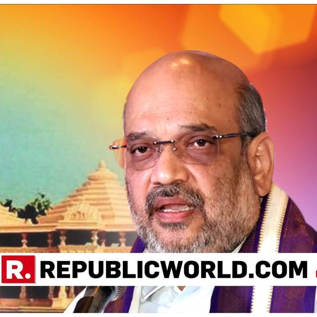 WATCH: AMIT SHAH PITCHES FOR RAM MANDIR; DENOUNCES CONGRESS SAYS 'PARTY CREATING HURDLES'