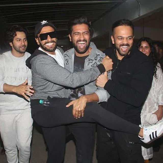 WATCH: VICKY KAUSHAL SHOUTS FAMOUS WAR CRY FROM 'URI: THE SURGICAL STRIKE', RANVEER SINGH, VARUN DHAWAN AND ROHIT SHETTY FOLLOW SUIT