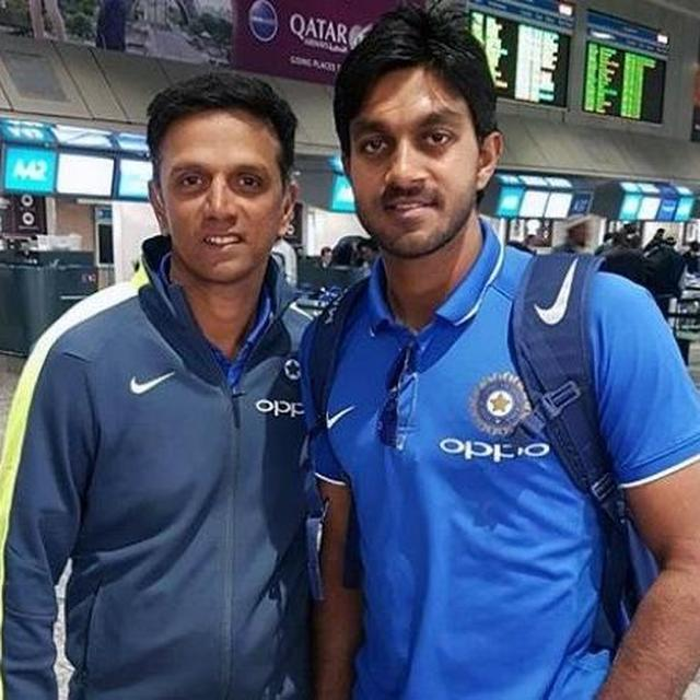 VIJAY SHANKAR THANKS RAHUL DRAVID FOR SHOWING FAITH IN HIM