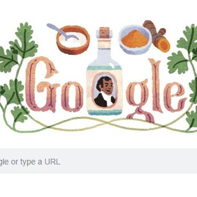 GOOGLE DOODLE HONOURS FIRST MAN TO LAUNCH INDIAN FOOD IN THE UK