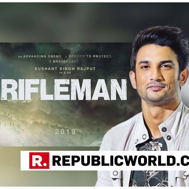 SUSHANT SINGH RAJPUT IGNITES THE PATRIOTIC ZEAL AS HE ANNOUNCES HIS NEW FILM 'RIFLEMAN