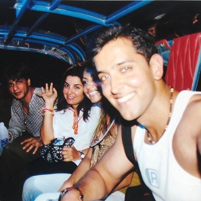 FARAH KHAN KUNDER'S #TUESDAYTHROWBACK PICTURE CAPTURES A RARE MOMENT SHARED BY HER, SHAH RUKH KHAN AND HRITHIK ROSHAN
