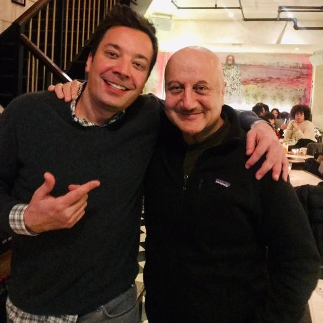 ANUPAM KHER AND JIMMY FALLON HAVE A MUTUAL FANBOY MOMENT AS THEY RENDEZVOUS FOR A CHAT, TAKE A LOOK