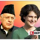 DR FAROOQ ABDULLAH EXPRESSES HAPPINESS OVER PRIYANKA GANDHI'S ENTRY INTO CONGRESS