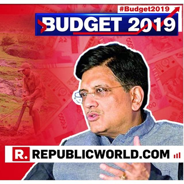 UNION BUDGET 2019: 'MOST DECISIVE, STABLE AND CLEAN GOVERNMENT: UNION MINISTER PIYUSH GOYAL