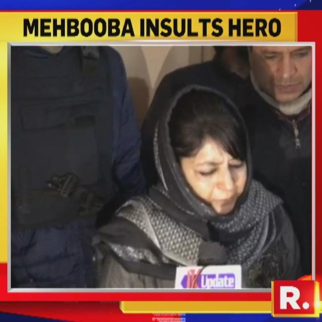 SHOCKING: MEHBOOBA MUFTI INSULTS INDIA'S BRAVEHEART MAJOR ROHIT SHUKLA, ASKS 'WHAT KIND OF A MAJOR IS HE?'