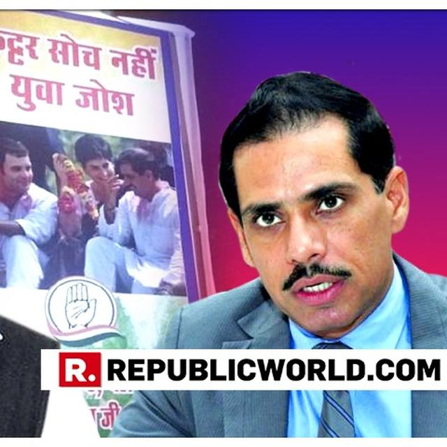 WATCH: 'ROBERT VADRA IS OUR LEADER, WE'LL PUT UP LAKHS AND CRORES OF HIS POSTERS', SAYS VADRA-AIDE JAGDISH SHARMA AFTER RAHUL-PRIYANKA-ROBERT CONGRESS POSTERS PUT UP OUTSIDE AICC