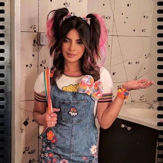 PRIYANKA CHOPRA IS ROCKING THE CLASSIC SCHOOL GIRL AVATAR WITH TWO PIGTAILS AND BACKPACK; SEE PICTURE HERE