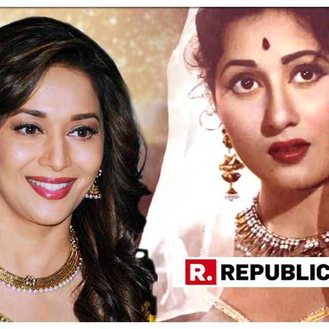 SEE PICTURE: MADHURI DIXIT RECREATES MADHUBALA'S ICONIC LOOK FROM 'MUGHAL-E-AZAM' ON HER 86TH BIRTH ANNIVERSARY