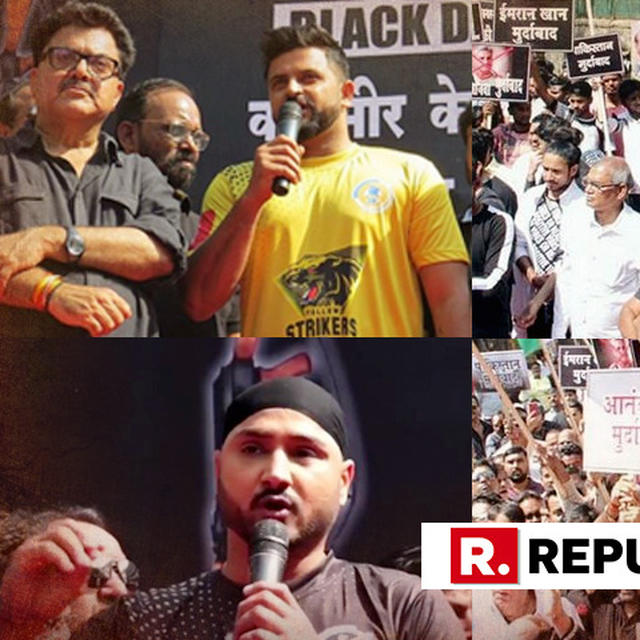 WATCH | FILM INDUSTRY FURIOUSLY PROTESTS PULWAMA TERROR ATTACK; HARBHAJAN SINGH, SURESH RAINA JOIN IN
