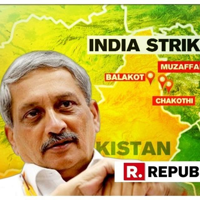 """""""SALUTE IAF, NEW INDIA UNDER PM MODI BELIEVES IN FORCES, MAKES NO COMPROMISE ON NATIONAL SECURITY,"""" SAYS  MANOHAR PARRIKAR AFTER IAF STRIKE ON PAK-BACKED TERROR CAMPS"""