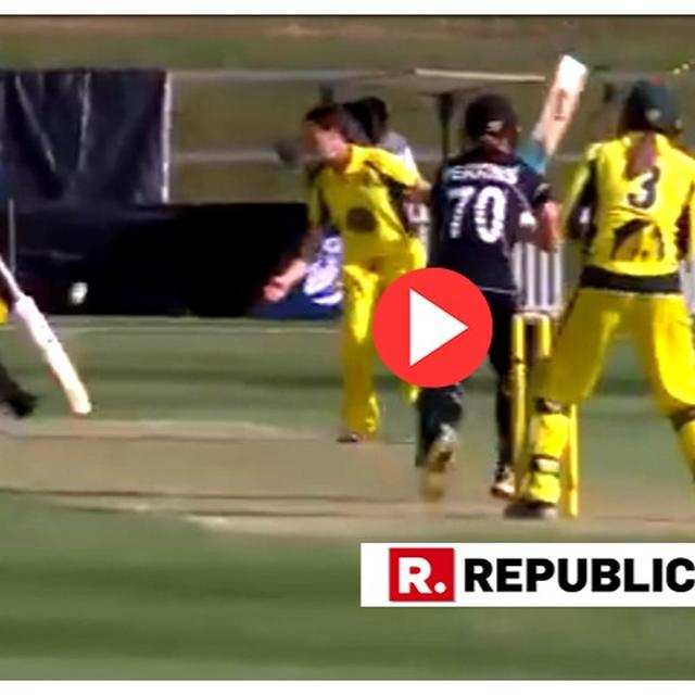 WATCH: NEW ZEALAND'S KATIE PERKINS SUFFERS ARGUABLY THE MOST BIZARRE DISMISSAL OF ALL TIME