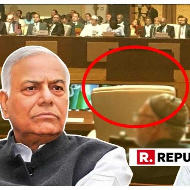 """""""GRAVE DIPLOMATIC ERROR"""" TO """"HUGE DIPLOMATIC WIN"""": YASHWANT SINHA ADMITS HE WAS WRONG ABOUT INDIA ACCEPTING OIC'S INVITE"""