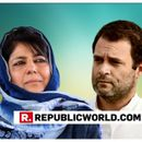 HERE'S MEHBOOBA MUFTI'S TAKE ON THE CONGRESS AND AAP FAILING TO STITCH AN ALLIANCE FOR THE 2019 LOK SABHA POLLS
