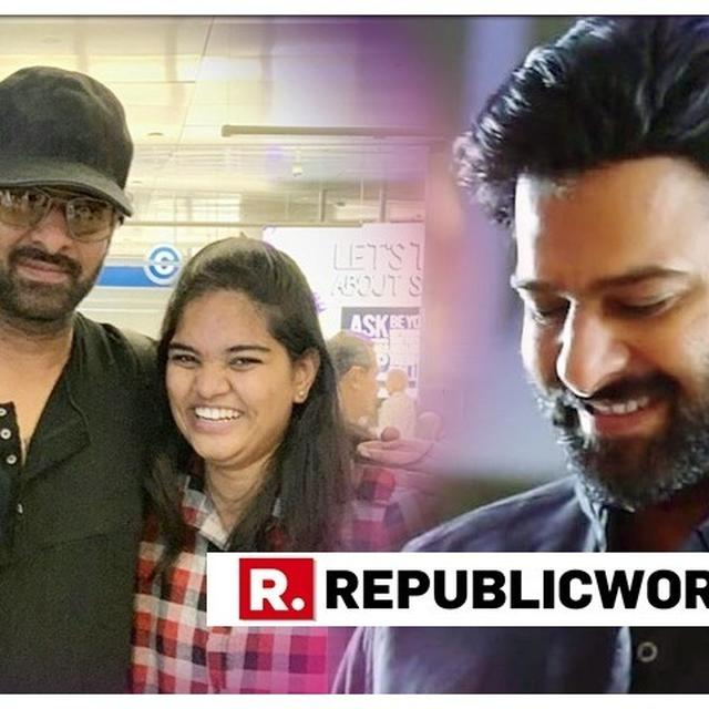 VIRAL: HYPER-EXCITED FAN BOLTS AFTER PLAYFULLY SLAPPING PRABHAS ON HIS CHEEK
