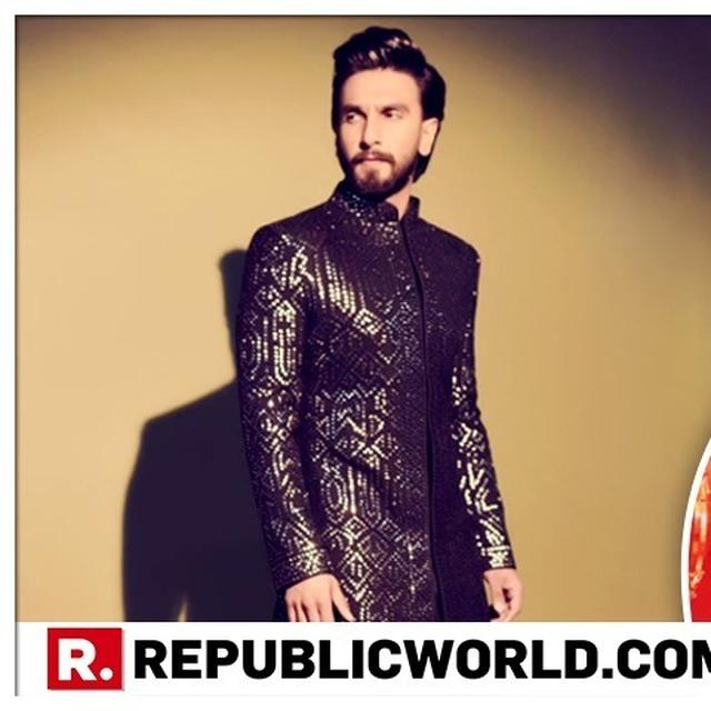 AKASH AMBANI-SHLOKA MEHTA WEDDING: RANVEER SINGH LOOKS DAPPER IN HIS STYLISH BLINGY-BLACK OUTFIT