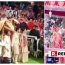 WATCH: AKASH AMBANI AND SHLOKA MEHTA REDEFINE ROYALTY AS THEY MAKE A MAGNIFICENT ENTRY FOR THEIR JAIMALA CEREMONY