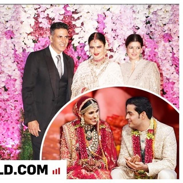 AKASH AMBANI-SHLOKA MEHTA POST-WEDDING CELEBRATION: AKSHAY KUMAR AND TWINKLE KHANNA CAN'T HELP BUT POSE WITH REKHA