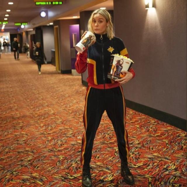 WATCH: BRIE LARSON TREATS 'CAPTAIN MARVEL' FANS WITH AN ULTIMATE SURPRISE AND THE INTERNET CANNOT DEAL WITH IT